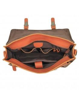 Мужской рыжий кожаный плотный портфель 77205B
