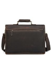 Мужской портфель винтажный коричневый 77205RR