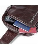 Фотография Современный и стильный темно-коричневый кожаный рюкзак 77215