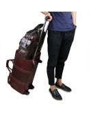 Фотография Кожаная коричневая мужская вместительная сумка 77219C-3С