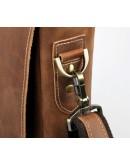 Фотография Портфель мужской коричневый из конской кожи 77229B