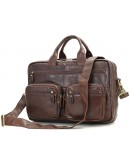 Фотография Вместительная повседневная удобная кожаная сумка 77231