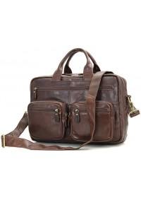 Вместительная повседневная удобная кожаная сумка 77231