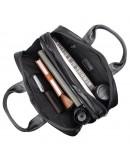 Фотография Чёрная сумка из натуральной кожи трансформер 77231a