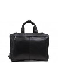 Черная мужская кожаная деловая сумка 77243A