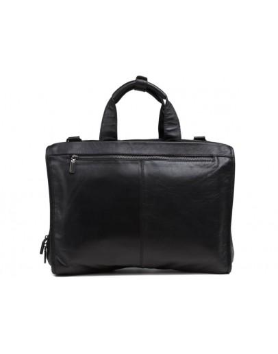 Фотография Черная мужская кожаная деловая сумка 77243A