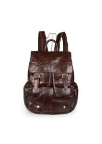 Тёмно-коричневый стильный мужской рюкзак 77249 br
