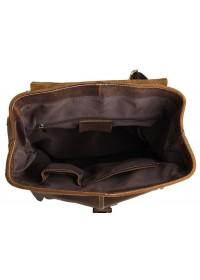 Вместительный мужской рюкзак из говяжьей кожи 77253