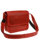 Фотография Маленькая женская кожаная сумка красного цвета 7725W-SKE
