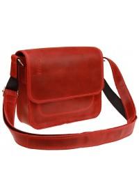 Маленькая женская кожаная сумка красного цвета 7725W-SKE