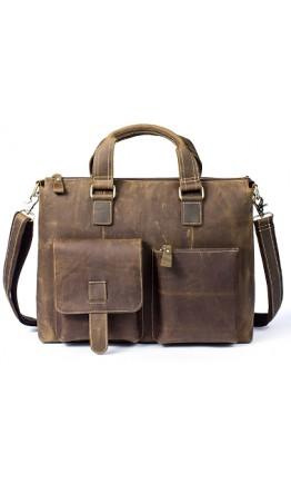 Кожаная мужская сумка для ноутбука 77264LR