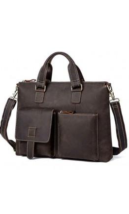 Кожаная мужская коричневая сумка 77264R