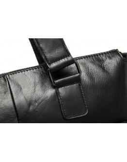 Кожаная чёрная мужская мягкая сумка 77264a