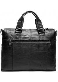 Мужская черная сумка деловая кожаная 77264AW