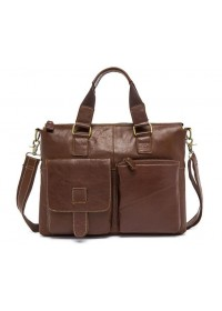 Кожаная коричневая сумка для мужчин 77264b