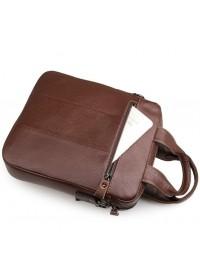 Коричневая мужская повседневная кожаная сумка 77266b