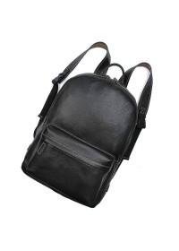 Черный большой мужской кожаный рюкзак 77273A-1