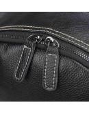 Фотография Черный большой мужской кожаный рюкзак 77273A-1