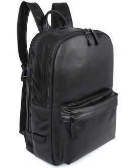 Большой черный кожаный модный мужской рюкзак 77273A