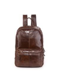 Большой коричневый кожаный большой рюкзак 77273c-1