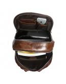 Фотография Большой коричневый кожаный большой рюкзак 77273c-1
