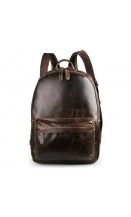 Тёмно-коричневый мужской рюкзак из телячьей кожи 77273q-1