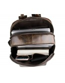 Фотография Тёмно-коричневый мужской рюкзак из телячьей кожи 77273q-1