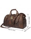 Фотография Мужской дорожный коричневый кожаный саквояж 77281B