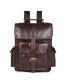 Фотография Кожаный мужской коричневый рюкзак 77283-с1