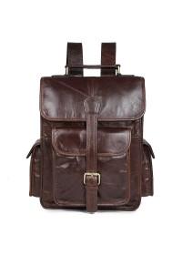 Кожаный мужской коричневый рюкзак 77283-с1