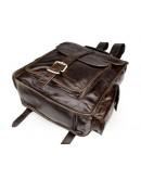 Фотография Кожаный коричневый мужской брутальный рюкзак 77283