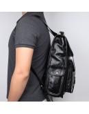 Фотография Черный оригинальный мужской кожаный рюкзак 77283A