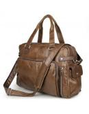 Фотография Мужская большая кожаная коричневая сумка 77288с