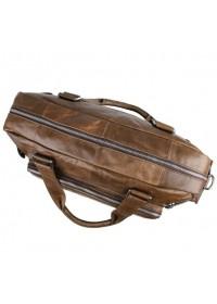 Мужская большая кожаная коричневая сумка 77288с