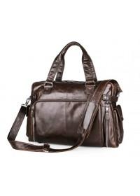 Большая мужская сумка шоколадного цвета 77288q