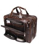 Фотография Универсальный вместительный мужской портфель из кожи 77289