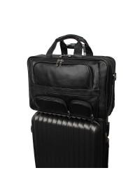Чёрная мужская сумка с большим количеством карманов 77289a