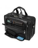 Фотография Чёрная мужская сумка с большим количеством карманов 77289a