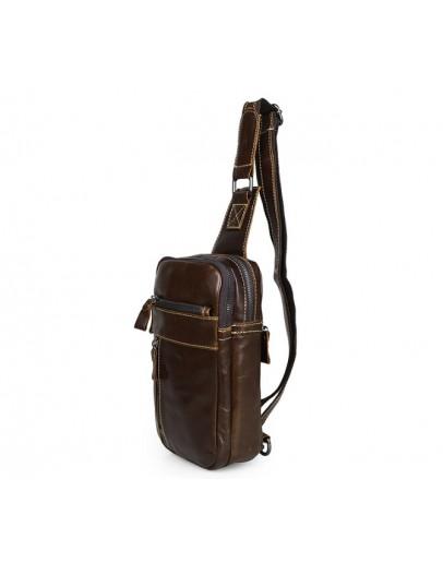 Фотография Кожаная мужская повседневная сумка на плечо 77296b