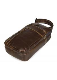 Кожаная мужская повседневная сумка на плечо 77296b