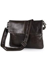 Темно-коричневый кожаный мужской мессенджер 77299GR