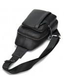 Фотография Черный мужской кожаный слинг 772M707A
