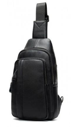 Черный мужской кожаный слинг 772M707A