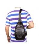Фотография Кожаный коричневый рюкзак с тиснением 77301q
