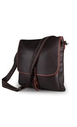 Коричневая удобная сумка мужская на плечо 77312C