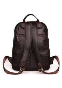Мужской кожаный коричневый рюкзак для города 77313