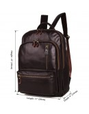 Фотография Мужской кожаный коричневый рюкзак для города 77313