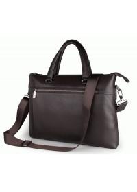 Классическая мужская коричневая сумка, кожаная 77314Q