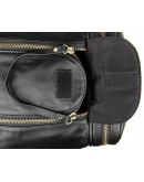 Фотография Большая черная дорожная мужская кожаная сумка 77317-1a