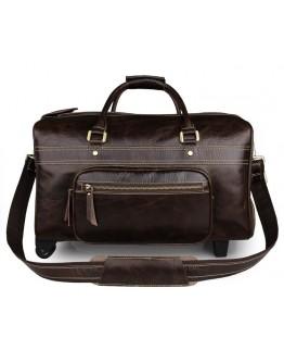 Мужская дорожная сумка кожаная с колесиками Vintage 77317C